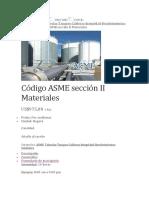 ASME SECCION II Materiales