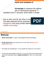 Length measurement and analysis of Paramecium
