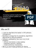 Increasing Customer Loyalty Through Proactive Platform Software Updates and Management