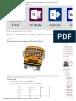 Base de Datos de Un Colegio en Microsoft Access