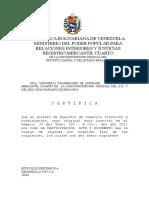 Registro Mercantil y Acta Constitutiva