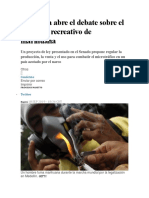 Colombia Abre El Debate Sobre El Consumo Recreativo de Marihuana