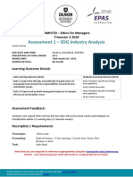 MMH733 Assignment 1 SDG Industry Analysis T3 2018