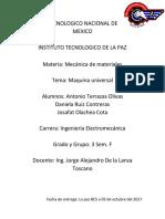 Reporte Practica Maquina Universal Mecanica de Materiales