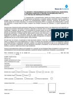 Formato Autorización a Consulta y Reporte a Centrales de Riesgo