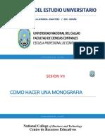 Sesion Vii Unac y La Ley Universitaria La Monografia