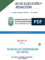 Sesion Vii Parte 2 Lengua y Linguistica Tecnicas de Comprension