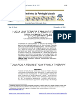 Hacia Una Terapia Familiar Feminista Par