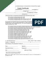 SC-ST Certificate 2019