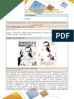 Formato de Matriz de Analisis Individual de La Pelicula Historia Americana x