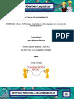 """Evidencia 12.3 Informe """"Definiendo y Desarrollando Habilidades Para Una Comunicación Asertiva y Eficaz"""""""