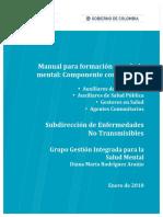 Manual Formacion Componente Comunitario Salud Mental