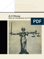 A. v. Dicey K.C., Hon. D.C.L. (Auth.) - Introduction to the Study of the Law of the Constitution-Palgrave Macmillan UK (1979)