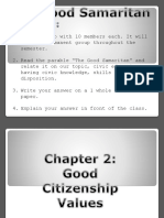 Chapter 3 Good Citizenship Values