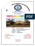 Hospital Management System a Project Rep