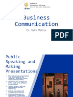 Chapter 2 - Public Speaking and Making Presentations - Economic Enviroment of Business