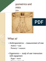 Anthropometrics & Ergonomics