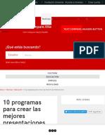 10 programas para hacer dispositivas