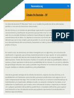 Árboles de Decisión - DT - Numerentur.org