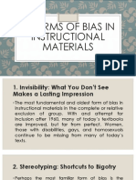 7 Forms of Bias in Instructional Materials
