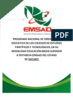 PROGRAMA NACIONAL DE ORIENTACIÓN EDUCATIVA DE LOS CECyTE EN SU MODALIDAD EMSaD DEL EDO DE NAYARIT