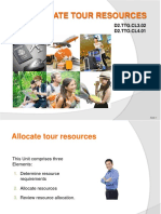 PPT Allocate Tour Resources_270115