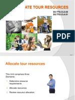 PPT Allocate Tour Resources_270115