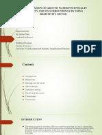 Presentation of Hyderology Group (1)