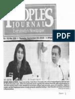 Peoples Journal, Sept. 19, 2019, Basic Education, Tingog Partulist Rep. Yedda Marie Romualdez with her husband Majority Leader and Leyte Rep. Martin Ronualdez.pdf