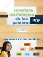 Estructura y morfología de la palabra  diapositiva