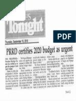 Peoples Tonight, Sept. 19, 2019, PRRD certifies 2020 budget as urgent.pdf