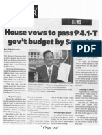 Philippine Daily Inquirer, Sept. 19, 2019, House vows to pass 4.1-T govt budget by Sept. 20.pdf