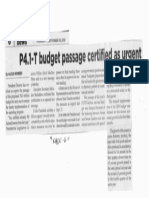 Philippine Star, Sept. 19, 2019, P4.1-T budget passage certified as urgent.pdf