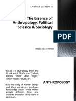 The essence of anthropology pol sci and sociology