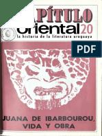Capitulo Oriental 20 Juana de Ibarbourou Vida y Obra