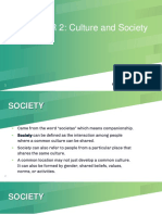 Chapter 2 - Culture and Society