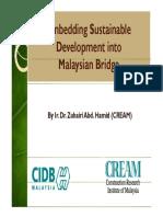 3. Embedding Sustainable Development Into Malaysian Bridge - Dr Zuhairi