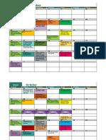 Activities Calendar 19-20 Two Rows Per Week Sep 2019