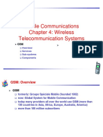 Wireless Telecommunication Systems in mobile computing