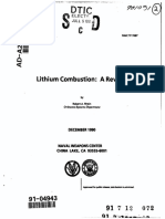 Lithiun Combustion