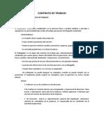 Contrato de Trabajo Informe 2