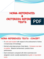 Norm and Criterion Referenced Test