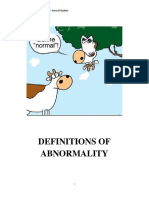 Definitions of Abnormality