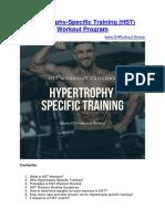 Hypertrophy-Specific Training (HST) Workout Program