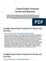 Sunlight based Power Products for Homes and.pptx