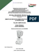 Proceso Tecnologico de La Licuadora
