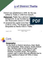 District Profile Thatta