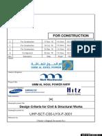 UHP-SCT-C00-UYX-F-3001_Design Criteria for Civil Structural Works_Rev.2