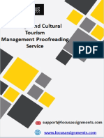 Heritage and Cultural Tourism Management Proofreading Service