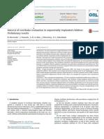 Interest of Vestibular Evaluation in Seque 2016 European Annals of Otorhinol